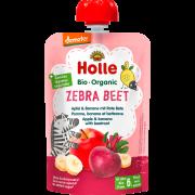 """Holle, BIO ābolu un banānu biezenis ar bietēm """"Zebra Beet"""" no 6 mēn., 100g"""