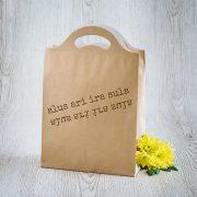 Dāvanu maisiņš, 210x310x100mm, ar tekstu - Alus arī ira sula