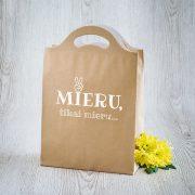 Dāvanu maisiņš, 210x310x100mm, ar tekstu - Mieru, tikai mieru
