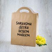 Dāvanu maisiņš, 210x310x100mm, ar tekstu - Sarkasmu dzeru lieliem malkiem