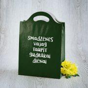 Dāvanu maisiņš, 210x310x100mm, ar tekstu - Smadzenes vajag taupīt gudrākai dienai