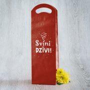 Dāvanu maisiņš, 380x120x85mm, ar tekstu - Svini dzīvi