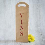 Dāvanu maisiņš, 380x120x85mm, ar tekstu - Vīns