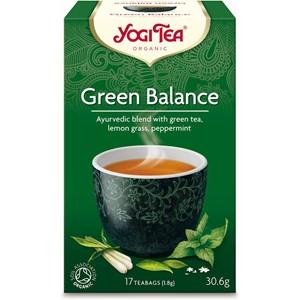 Yogi zaļās tējas maisījums green balance 17 paciņas