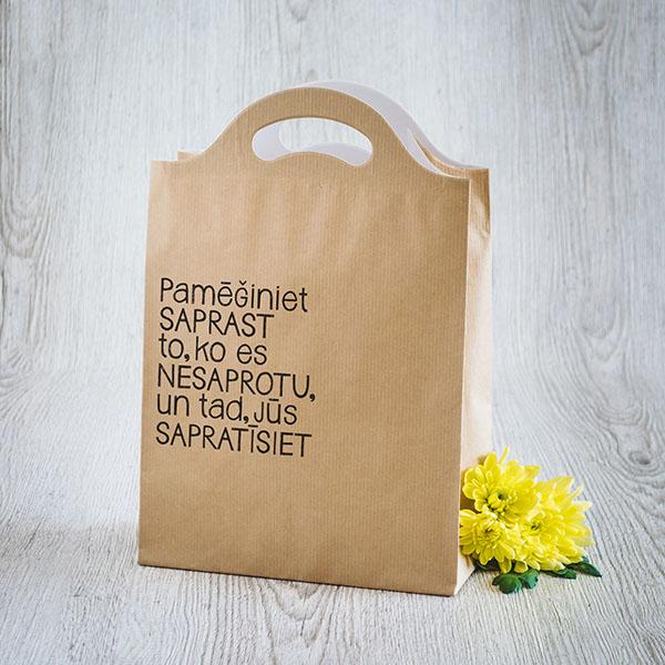 Dāvanu maisiņš ar melnu tekstu Pamēģiniet saprast to, ko es nesaprotu, un tad, jūs sapratīsiet