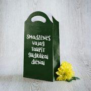 Dāvanu maisiņš, 290x155x65mm, ar tekstu - Smadzenes vajag taupīt gudrākai dienai