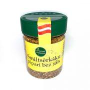 Garšaugu maisijums- smiltsērkšķu pipari bez sāls, caurspīdīgā iepakojumā ar dzeltenu etiķeti, 70g.