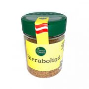Garšaugu maisijums- sierāboliņš, caurspīdīgā iepakojumā ar dzeltenu etiķeti, 100g.