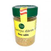 Garšaugu maisijums- Latvju dārzs bez sāls, caurspīdīgā iepakojumā ar dzeltenu etiķeti, 120g.