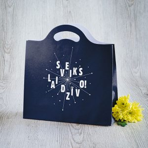 Dāvanu maisiņš ar tekstu-Sveiks lai dzīvo