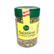 Garšaugu maisijums- salātiem, tomātiem un gurķiem, caurspīdīgā iepakojumā ar dzeltenu etiketi, 100g.
