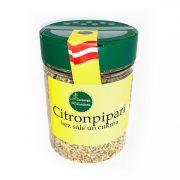 Garšaugu maisijums- citronpipari bez sāls un cukura, caurspīdīgā iepakojumā ar dzeltenu etiķeti, 70g.