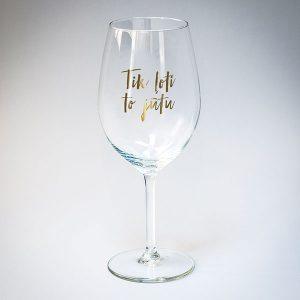Dadzis vīna glāze tik ļoti to jūtu