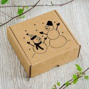 """Dāvanu kaste, """"Sniegavīri"""", (120x120x50mm)"""