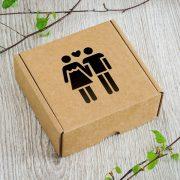 """Dāvanu kaste, """"WC pāris"""", (120x120x50mm)"""