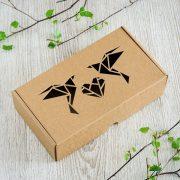 "Dāvanu kaste, ""Origami putni"", (230x127x60mm)"