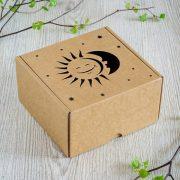 """Dāvanu kaste, """"Saule un Mēness"""", (160x160x90mm)"""