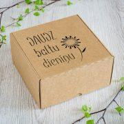 """Dāvanu kaste, """"Daudz baltu dienu"""", (190x190x110mm)"""