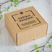 """Dāvanu kaste, """"Sveika, vasara!"""", (190x190x110mm)"""