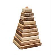 Lotes toys, koka kvadrātu piramīda PY01