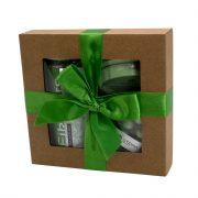 """Steina products, dāvanu komplekts """"Eikalipts"""" brūnā kastītē ar zaļu lenti"""