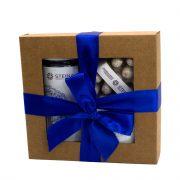 "Steina products, dāvanu komplekts ""Mellene"" brūnā kastē ar zilu lenti"