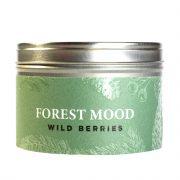 Dobeles sveces, sojas vaska svece metāla traukā ar meža ogu aromātu, 80x53mm