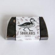 šokolādes ziepes ar attēlotu pīli