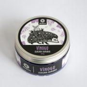 vīnogu cukura skrubis ar attēlotu ezii