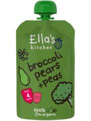 Ella's Kitchen, brokoļu, bumbieru un zirņu biezenis, 120 gr