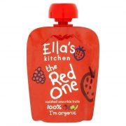 Ella's Kitchen, sarkanais augļu biezenis, 90g