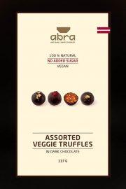 Abra foods, trifeles ar augļiem un dārzeņiem tumšajā šokolādē, 117g
