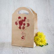 Dāvanu maisiņš, 245x150x92mm, ar attēlotu meiteni un baloniem