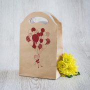 Dāvanu maisiņš, 245x150x92mm, ar attēlotu puiku un balonu