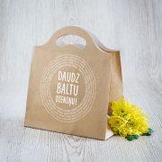 Dāvanu maisiņš, 230x210x100mm, ar tekstu - Daudz baltu dieniņu