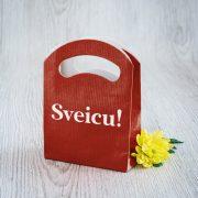 Dāvanu maisiņš, 110x150x45mm, ar tekstu - Sveicu