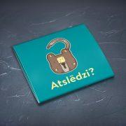 Prezervatīvi, dadzis, ar attēlotu slēdzeni un jautājumu - Atslēdzi