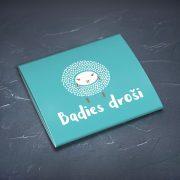 Prezervatīvi, dadzis, ar attēlotu aunu un tekstu - Badies droši