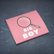 Prezervatīvs, dadzis, ar attēlotu lupu un tekstu - Big boy