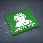 Prezervatīvs, dadzis, ar attēlotu Jāni un vainagu un tekstu - Janku par prezi