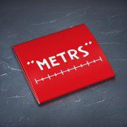 Prezervatīvs, dadzis, ar attēlotu tekstu - Metrs