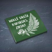 Prezervatīvs, dadzis, ar attēlotu papardes ziedu un tekstu - Meklē droši papardes ziedu