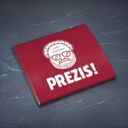 Prezervatīvs, dadzis, ar attēlotu prezidentu un tekstu - Prezis