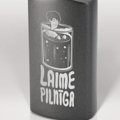 Alumīnija pudele, 600ml, Laime pilnīga