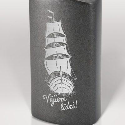 Alumīnija pudele, 600ml, Vējiem līdzi