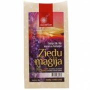Dandelion tēja ziedu maģija violetā paciņā
