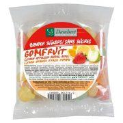 damhert augļu gumijas konfektes bez cukura, 100 g caurspīdīgā paciņā ar oranžu etiķetii