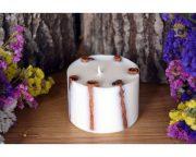 Laureta candles rapšu vaska svece ar kanēļa standziņām