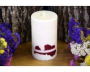 Laureta Candles rapšu vaska svece ar LV kontūru 10 cm
