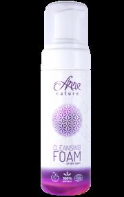 Anne Nature attīrošas sejas putas 150ml baltā pudelē ar violetu etiķeti
